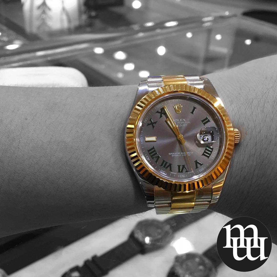 Jam Tangan Rolex Datejust II 41mm Gold Steel Totone