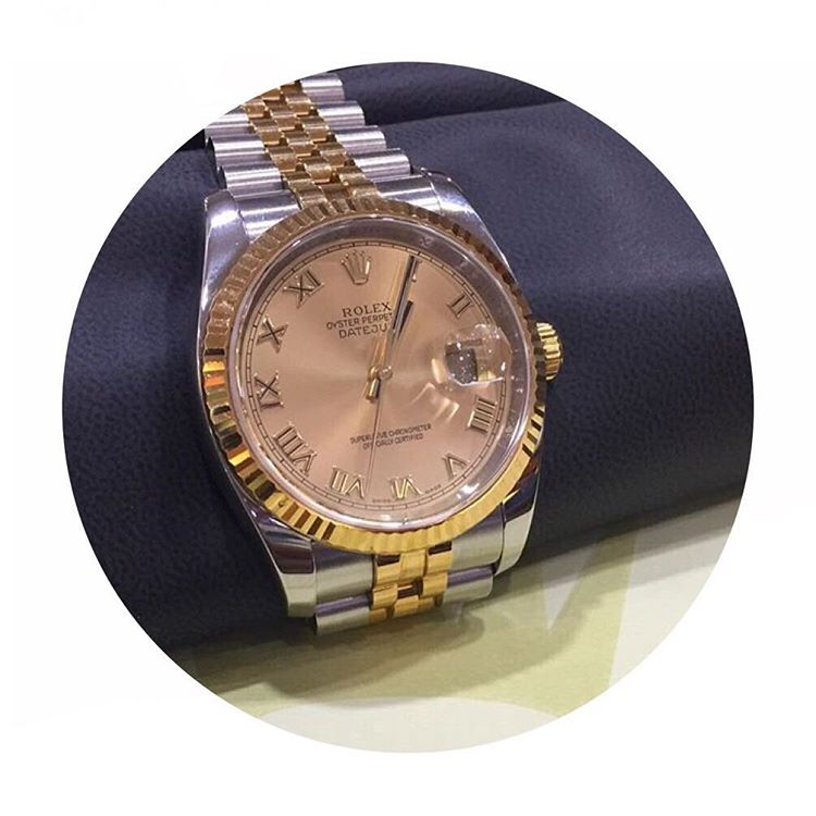 Jam Tangan Rolex Datejust Yellow Gold-Steel
