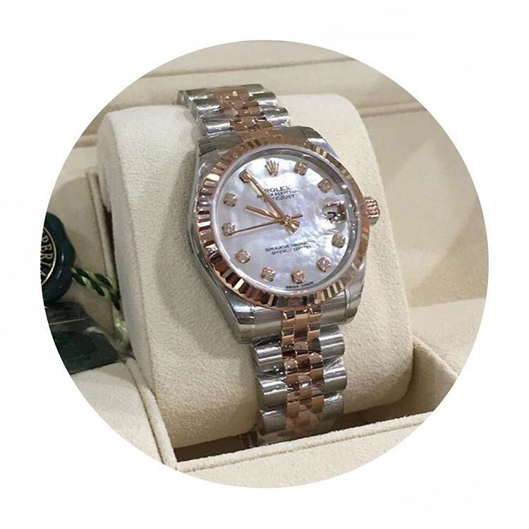 Jam Tangan Rolex Datejust 36mm Rose Gold Totone