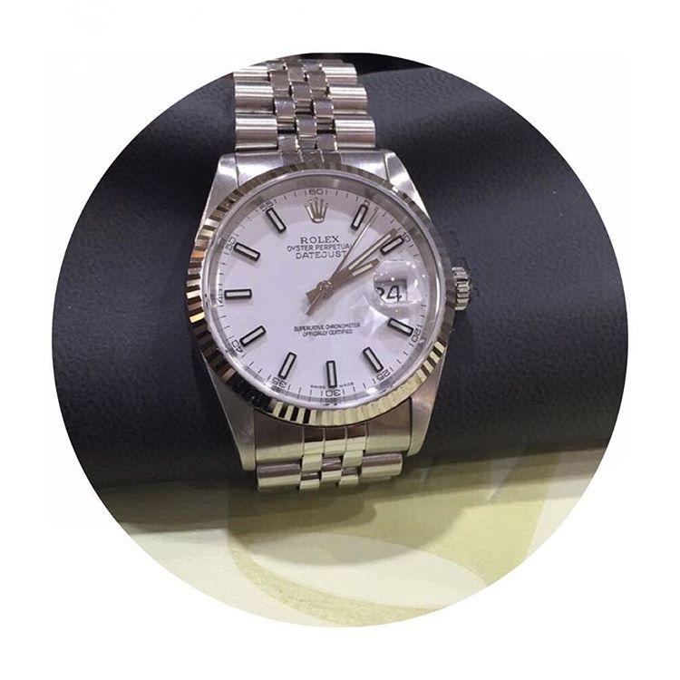 Jam Tangan Rolex Datejust 36 Steel White Gold eaf5d3d75c