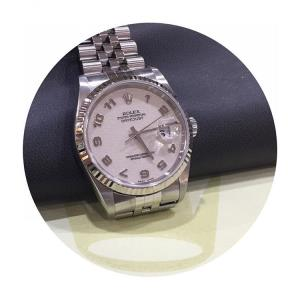 Jam Tangan Rolex Datejust 36 Steel White Gold-2